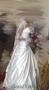 свадебное белое платье со шлейфом